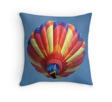 High flying balloon, turning up the burn! Throw Pillow