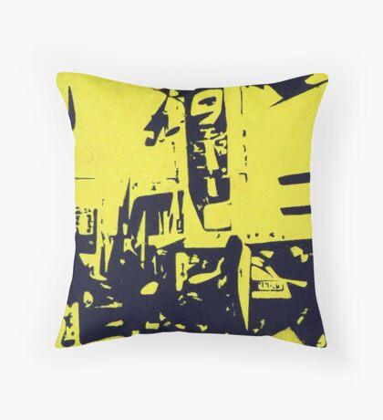 Corner in City Throw Pillow