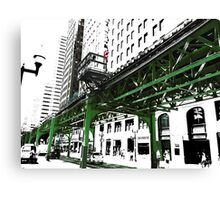 { chicago l - chicago el - series: 2 } Canvas Print