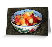 A Salad of Fruit in a Painted Bowl Greeting Card