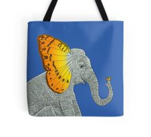 Elephant and Butterfly Tote Bag