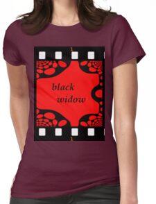 Black Widow Womens Fitted T-Shirt