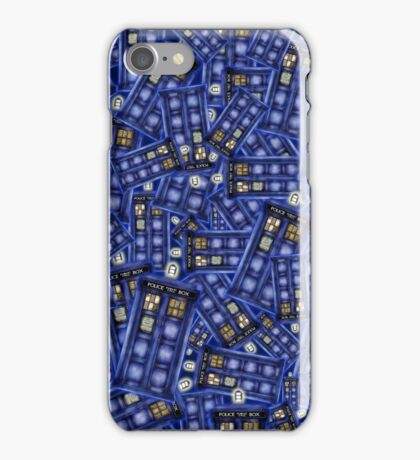 British Blue Phone box Pattern iPhone Case/Skin
