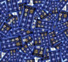 British Blue Phone box Pattern Sticker