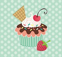 Cherry on Top Cupcake by prettycritters