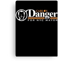 Carlos Danger For Mayor Canvas Print