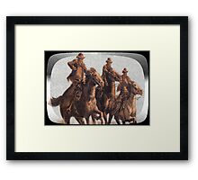 The Three Horsemen Framed Print