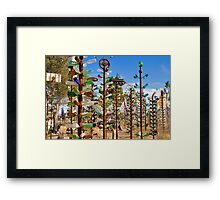 Bottle Trees Exposed! Framed Print