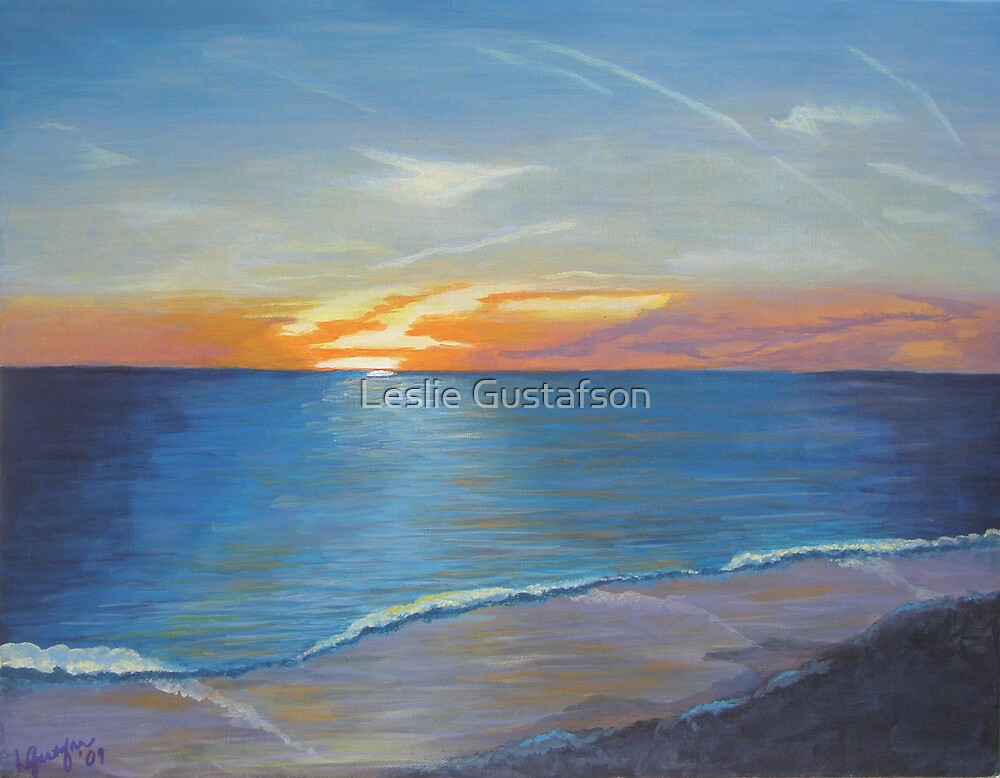April Sunset by Leslie Gustafson