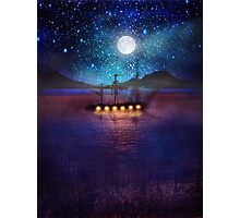 The lights and the Silent Water Photographic Print