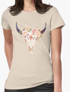 Ethnic Flowers Bull Head  T-Shirt