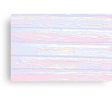 Pink and Blue DistressedStripes Canvas Print