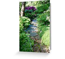 Dappled path Greeting Card