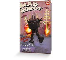 Mad Robot Pulp Cover Greeting Card