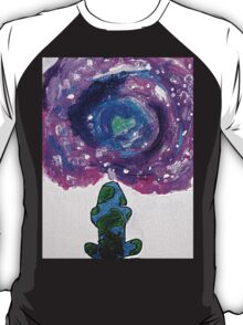 Earth and universe galaxy girl T-Shirt
