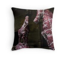 a gift horse. or two. Throw Pillow