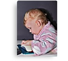Technology - The Line That Separates The Family, Choose Wisely. Canvas Print