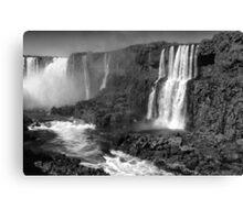 Iguazu in Monochrome Canvas Print