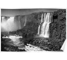Iguazu in Monochrome Poster