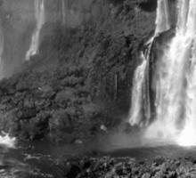 Iguazu in Monochrome Sticker