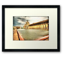 Plaza Pool Framed Print