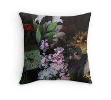 plastic flowers from cemeteries #24 Throw Pillow