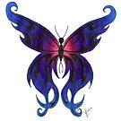 Tribal Butterfly by Lynsye Medalia