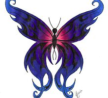 Tribal Butterfly by Lynsye Medalia