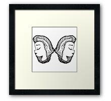 Braided Girl Framed Print