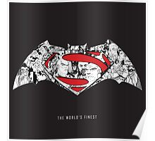 Batman Superman Illustration  Poster