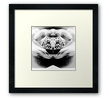 Black & white photo, hand art Framed Print