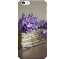 Wisteria on a book iPhone Case/Skin