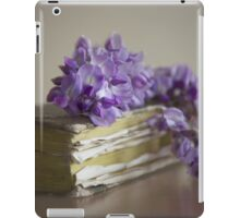 Wisteria on a book iPad Case/Skin