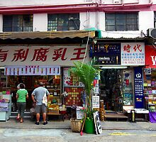 A slice of Chinese life, Causeway Bay, Hongkong. by John Mitchell