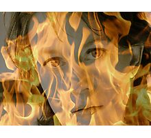 fire face Photographic Print