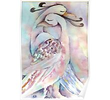 Love Birds Watercolour Painting  Poster