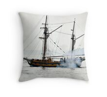 Hawaiian Chieftain firing on us Throw Pillow
