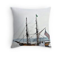 Lady Washington firing cannons Throw Pillow