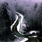 First Snow on the Road Through Ellsworth by Wayne King