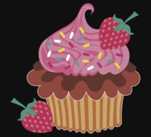 Strawberry & Chocolate Cupcake One Piece - Long Sleeve
