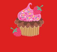 Strawberry & Chocolate Cupcake Womens Fitted T-Shirt