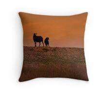 Sheep Silhouette Throw Pillow