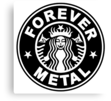 Forever metal music Canvas Print