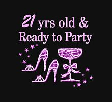 PURPLE SPARKLE 21ST BIRTHDAY Women's Fitted Scoop T-Shirt