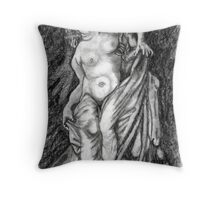 Death and the Woman Throw Pillow