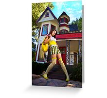 Alice In Suburbanland Greeting Card