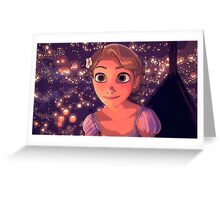 Rapunzel and the Lights Greeting Card