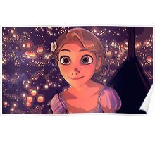 Rapunzel and the Lights Poster