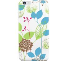 Blue Green Soothing Leaf Pattern  iPhone Case/Skin