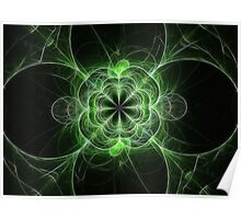 Flower Fractal of Green Poster